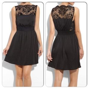 "Free People Lace ""Tea for Two"" black dress small"